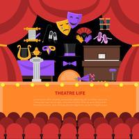 Fond de théâtre concept de la vie vecteur