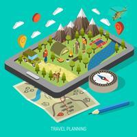 Concept de design de randonnée et de camping