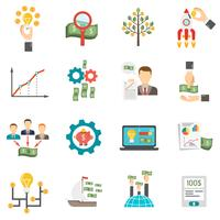 ensemble d'icônes de crowdfunding vecteur