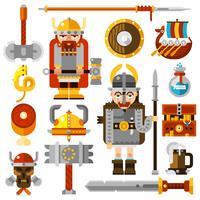 jeu d'icônes de vikings