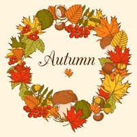 Cadre décoratif couleur automne vecteur