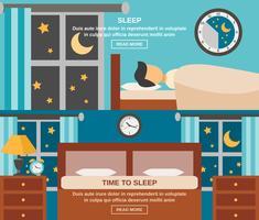 Bannière du temps de sommeil vecteur