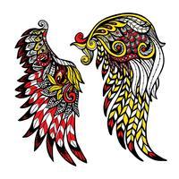 Ensemble d'ailes colorées vecteur
