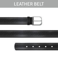 Ensemble de ceinture en cuir vecteur