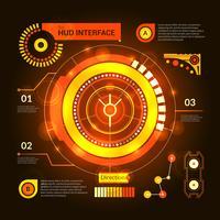 Interface Hud orange vecteur