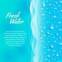 Affiche écologique pour la promotion de l'eau douce vecteur