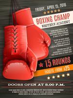 Affiche de boxe de gants