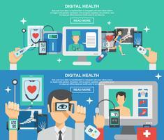 Ensemble de bannière santé numérique