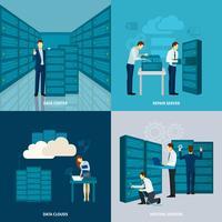 Ensemble de centre de données vecteur