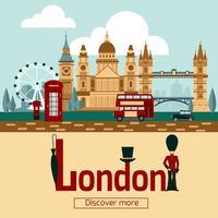 Affiche touristique de Londres vecteur