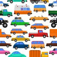 Modèle sans couture de voitures vecteur