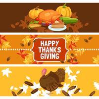 Jeu de bannière pour le jour de Thanksgiving vecteur