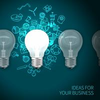 Affiche d'idée d'entreprise