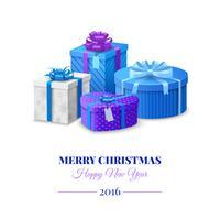 Coffrets Cadeaux Colorés vecteur