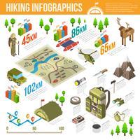 Ensemble d'infographie de randonnée