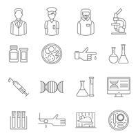 Symbole de microbiologie sur fond blanc