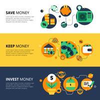 Bannières de finances horizontales