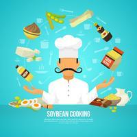 Concept de nourriture de soja