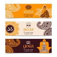 Culture indienne 3 bannières horizontales