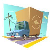 Concept rétro d'entrepôt vecteur