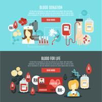 Bannière de donneur de sang vecteur