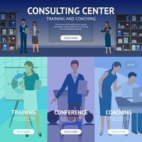 Bannières du centre de services de consultation vecteur