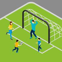 Jouer au football Illustration