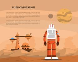 Illustration du concept d'espace vecteur