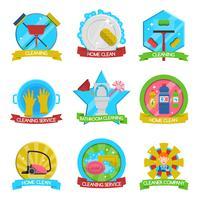 Set d'emblèmes de nettoyage