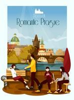 Illustration de l'affiche de Prague vecteur