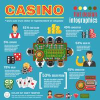 Jeu d'infographie de casino vecteur