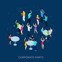 Concept de soirée d'entreprise vecteur