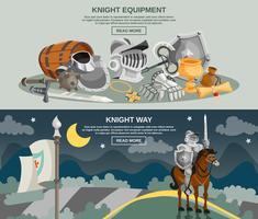 bannière de chevalier vecteur