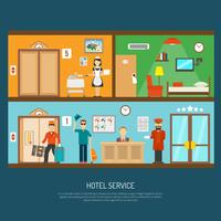 Illustration du service hôtelier
