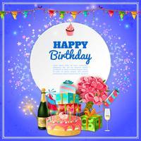 Affiche de fond fête joyeux anniversaire