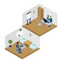 Illustration en ligne de personnes vecteur