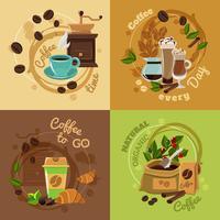 Coffee Concept 4 Place des icônes plates