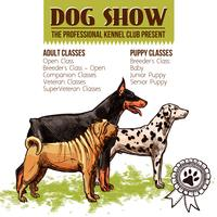 Illustration de spectacle de chiens