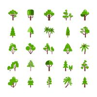 Collection de jeu d'arbres vecteur