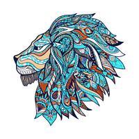 Illustration couleur lion vecteur