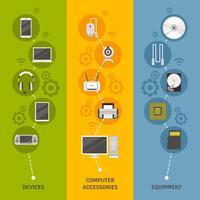 Ensemble de bannières pour appareils et matériel informatique