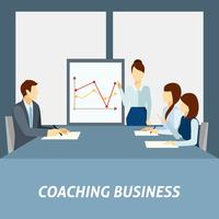 Affiche de coaching d'entreprise réussie vecteur