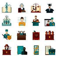 jeu d'icônes de droit vecteur