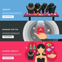 Ensemble de bannières de bijoux