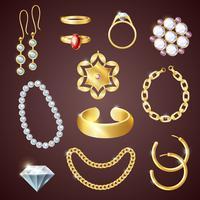 Ensemble réaliste de bijoux