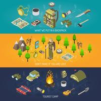 Randonnée Bannière Equipement Et Camping Touristique