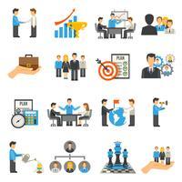 Ensemble d'icônes de gestion
