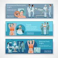 Place de la chirurgie plastique 4 icônes plat