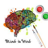 Concept de cerveau de créativité