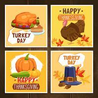 Cartes du jour de Thanksgiving vecteur
